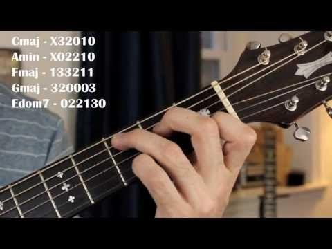 Hallelujah - Leonard Cohen/Jeff Buckley Easy Guitar Lesson (No Capo) - YouTube