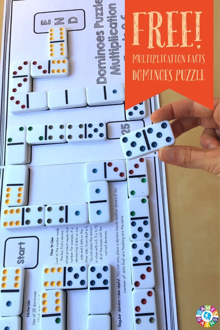 This multiplication facts puzzle was a HIT in my classroom!  My students loved the hands-on aspect of the dominoes!