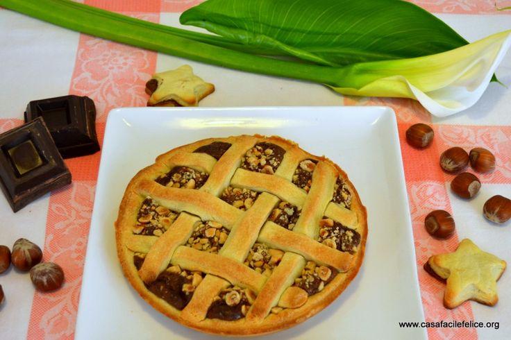 Crostata di crema al cioccolato e nocciole on http://casafacilefelice.org