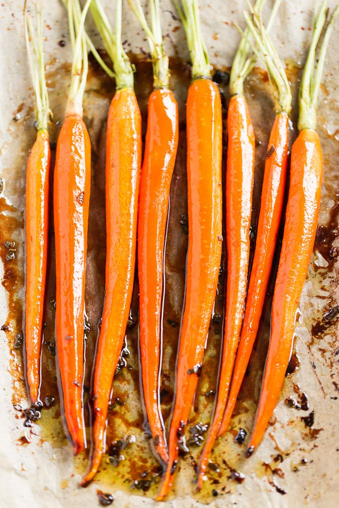 Browned Butter Maple Sage Roasted Carrots   GI 365