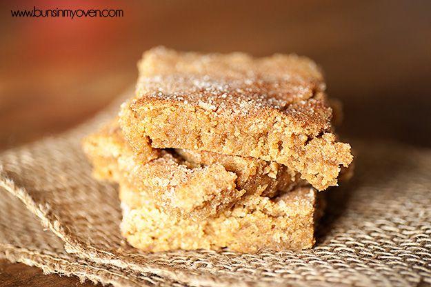 brauner Zucker Snickerdoodle Bars