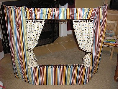 Puppet Theatre made from a project display board