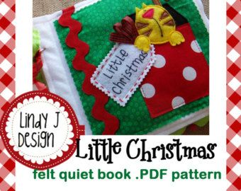 Eiei-oh Felt Quiet Book .PDF Pattern by LindyJDesign on Etsy