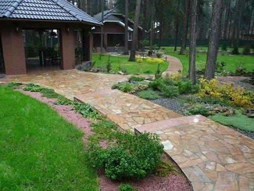 Каменные садовые дорожки: из бетона, кирпича, гальки, гравия, плитки и не только (40 фото) | Постройки | DecorWind.ru