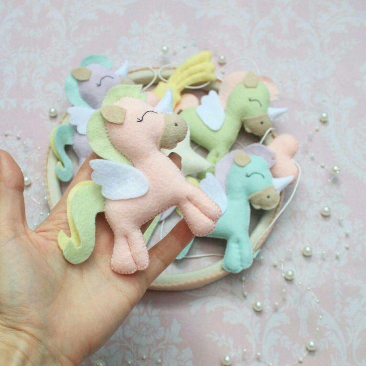 Ice cream color unicorn mobile. For those who likes pastel tones.