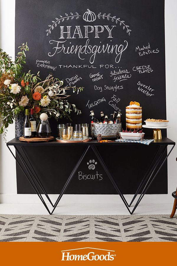 Hosting this Thanksgiving? A chalkboard wall is a creative way for you and your guests to express gratitude, create more conversation and get everyone involved in the celebration. Visit our Fall Inspiration board for more ideas and tips!