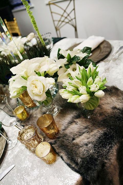 LOVE IS WED Зимняя белая роскошная свадьба банкет свадебные столы декор, Winter white wedding Banquet decor