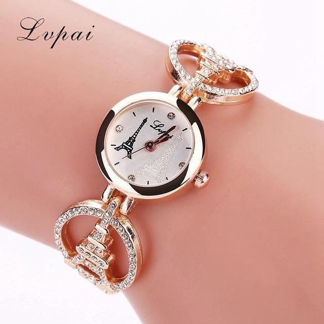Lvpai Brand Women Fashion Luxury Watches Diamond Tower Quartz Ladies - Tarif Gros Oeuvre Maison