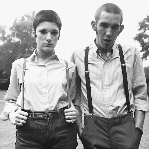 Traditional skinhead girl exhibiting her wears 2