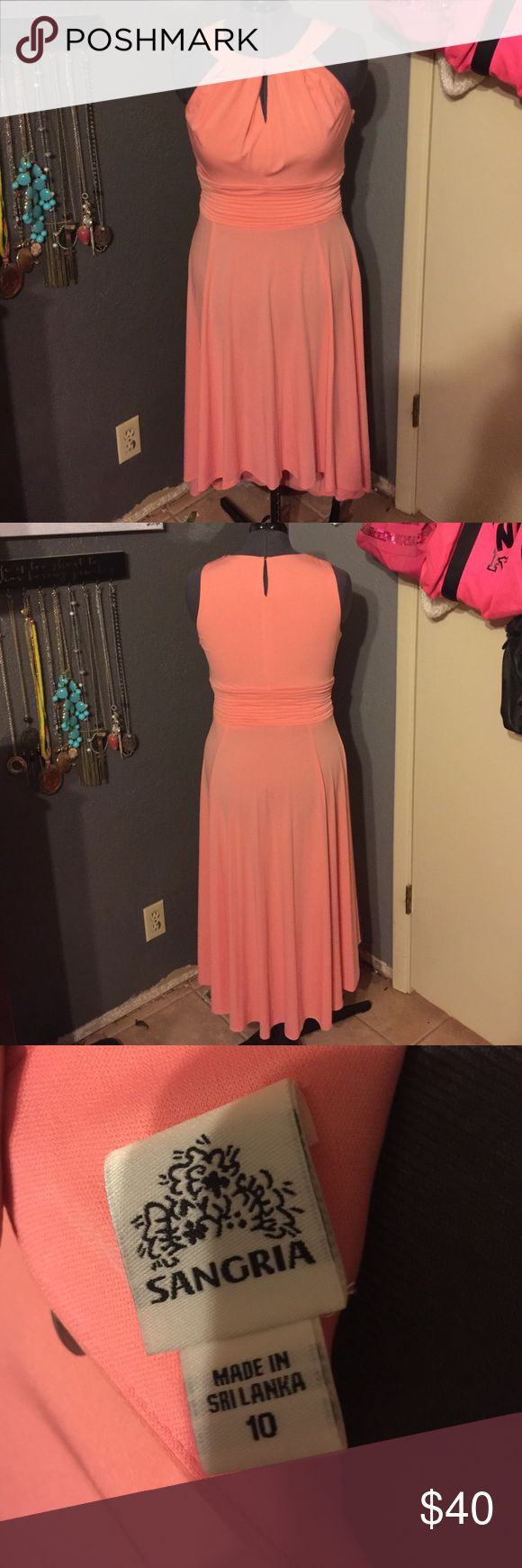 Sangria Dress Beautiful creamcycle colored dress. Worn once for a wedding. Excellent, like new condition. Sangria Dresses High Low