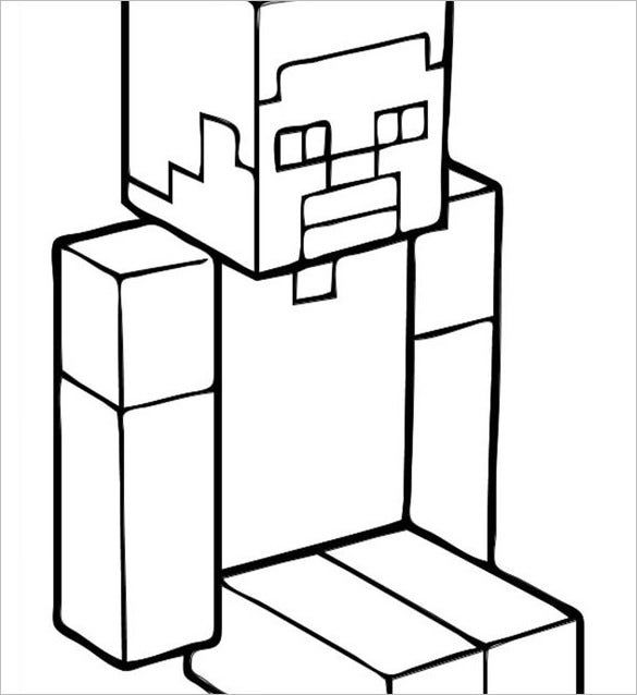 16 Minecraft Coloring Pages Pdf Psd Png Minecraft Coloring Pages Minecraft Steve Coloring Pages
