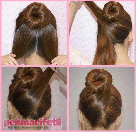 Ensesi çapraz balerin topuzu yapalımm :) | Saç Modelleri | Pek Marifetli!