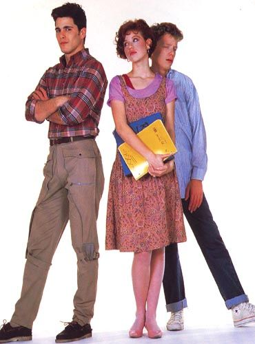 Jake Ryan (Michael Schoeffling), Samantha Baker (Molly Ringwald) & Geek (Anthony Michael Hall) - Dieciséis velas (1984)
