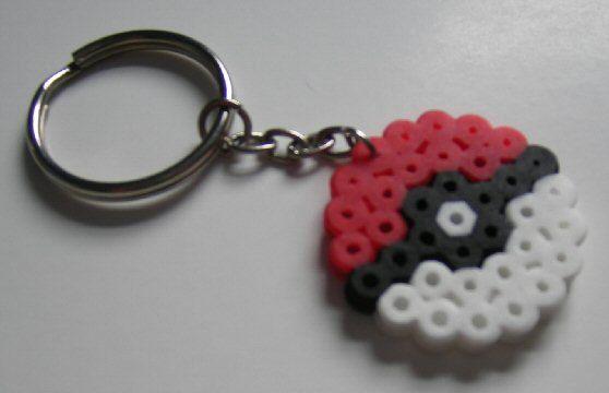 tiny pokemon perler bead keychain
