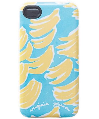 Virginia Johnson iPhone case, bananas