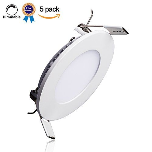 B-right Pack of 5 Units 12W 6-inch Dimmable Ultra-thin Round LED Panel Light, 850lm, 80W Incandescent Equivalent, 5000K Cool White, LED Recessed Ceiling Lights for Home, Office, Commercial Lighting -- Additional details @ http://www.amazon.com/gp/product/B015SD5ACG/tag=homeimprtip08-20&xy=140716034707