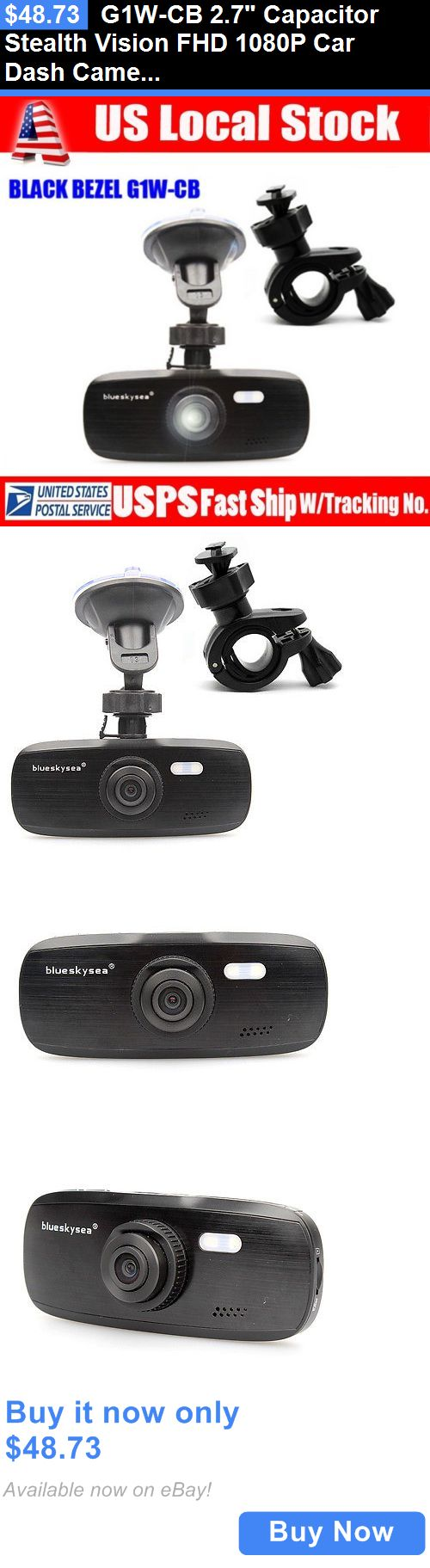 Other Car Video: G1w-Cb 2.7 Capacitor Stealth Vision Fhd 1080P Car Dash Camera Dvr +Mirror Mount BUY IT NOW ONLY: $48.73