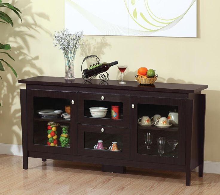 Kitchen Cabinet Designs: Furniture Of America Cedric Modern Buffet