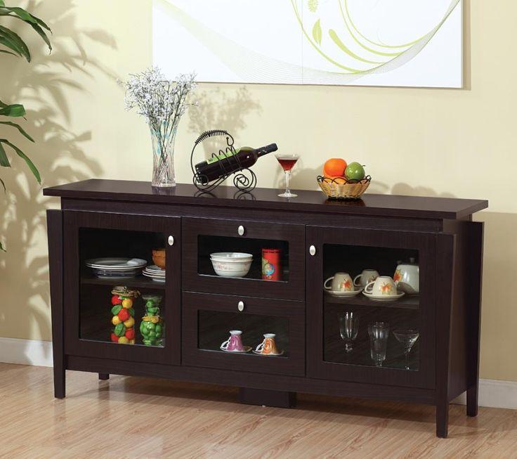 amazon com furniture of america cedric modern buffet espresso buffets sideboards on c kitchen id=35863