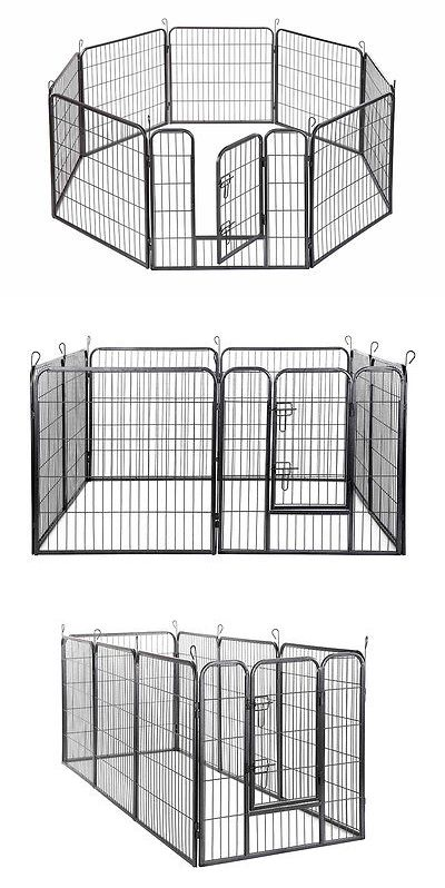 Fences and Exercise Pens 20748: 48 Inch Dog Playpen Crate 8 Panel Fence Pet Play Pen Exercise Puppy Kennel Cage -> BUY IT NOW ONLY: $99.99 on eBay!