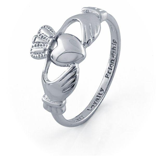 Dainty Silver Claddagh Ring - ✔