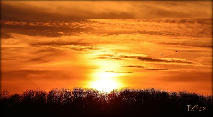 Sunset 5 april 2014 19:05 Aan de Poel