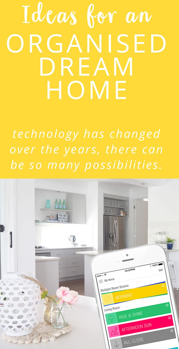 Technology has changed so much over the years. There can be so many possibilities and ideas to create a beautifully organised dream home, if I was to build or renovate I'd love to implement some of these ideas.