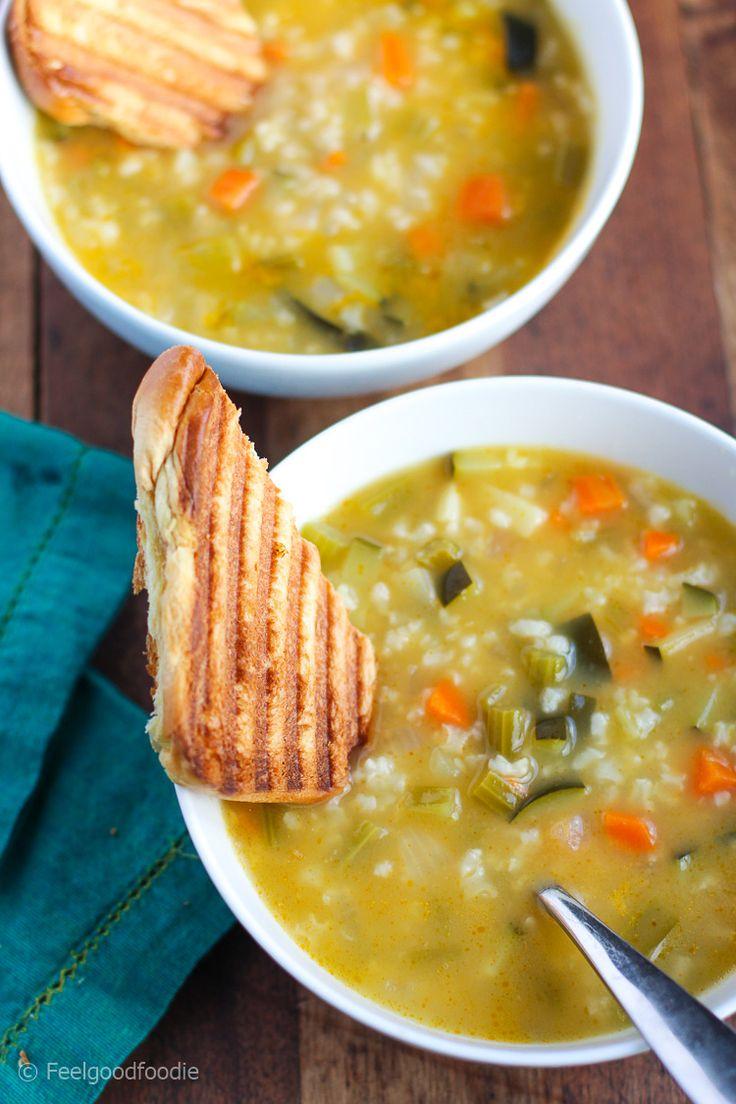 Vegetarian Lemon Rice Soup