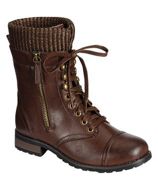 Brown Sock Battle Combat Boot