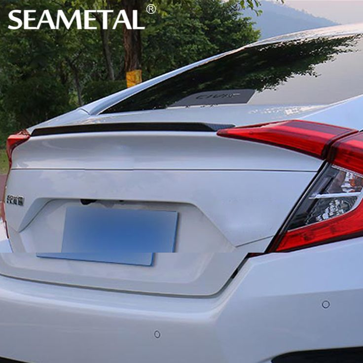 Car Rear Lip Spoiler For Honda Civic 2016 2017 2018 2019: Without Paint Car Spoilers For Honda Civic Sedan 10th 2016