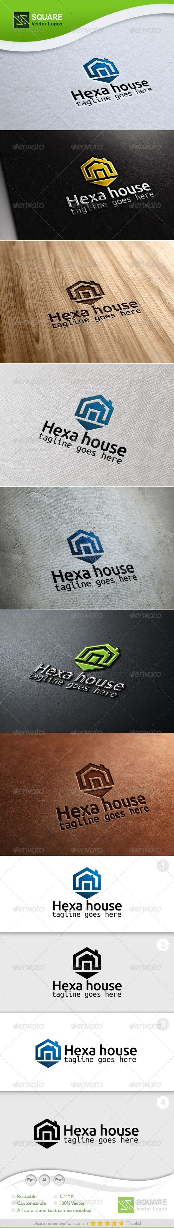 Hexagon, House Vector Logo Template — Photoshop PSD #builder #corporate • Available here → https://graphicriver.net/item/hexagon-house-vector-logo-template/6694695?ref=pxcr