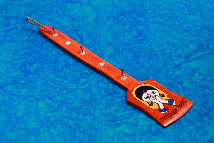 A Krazy Mug Namaste India Red Key Holder