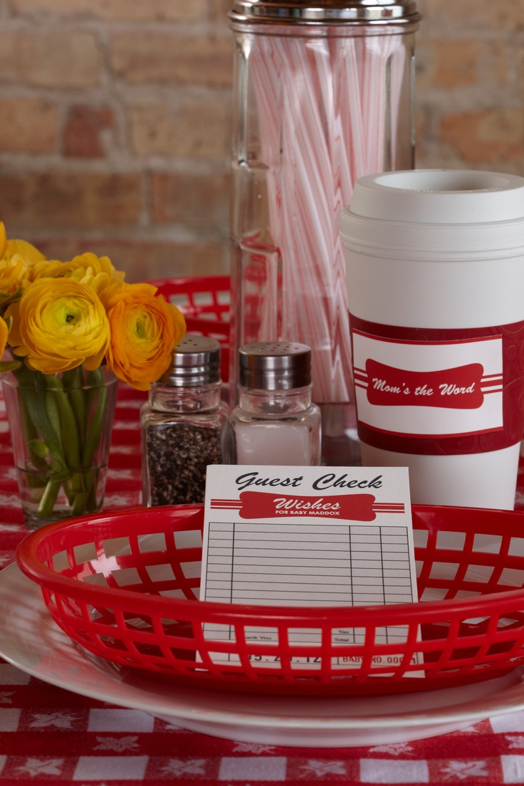 Diner Accessories. Straws, baskets and guest order slips will have you running your party like an authentic diner.