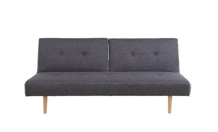 Harvey+Norman+-+Athens+Sofa+Bed+Dark+Grey+-++Fabric