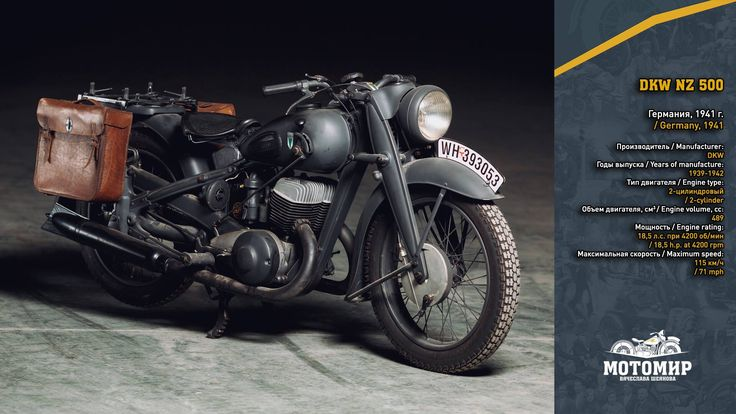 """DKW NZ 500. Germany, 1941 Technologically advanced motorcycle, most of the """"brothers"""" of which were requisitioned in German army."""
