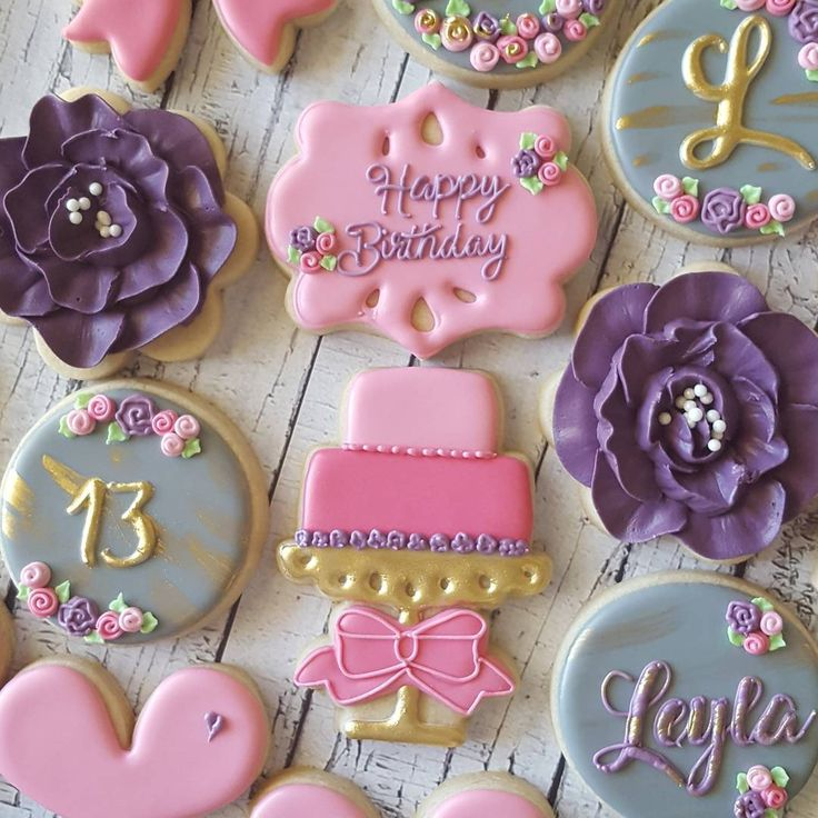1000+ Images About Birthday Cookies On Pinterest