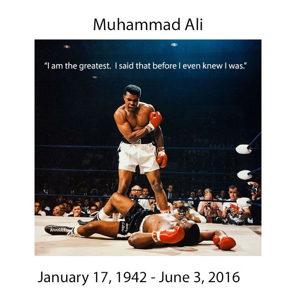 """Rest In Peace. """"It's the repetition of affirmations that leads to belief. And once that belief becomes a deep conviction, things begin to happen."""" -Muhammad Ali"""