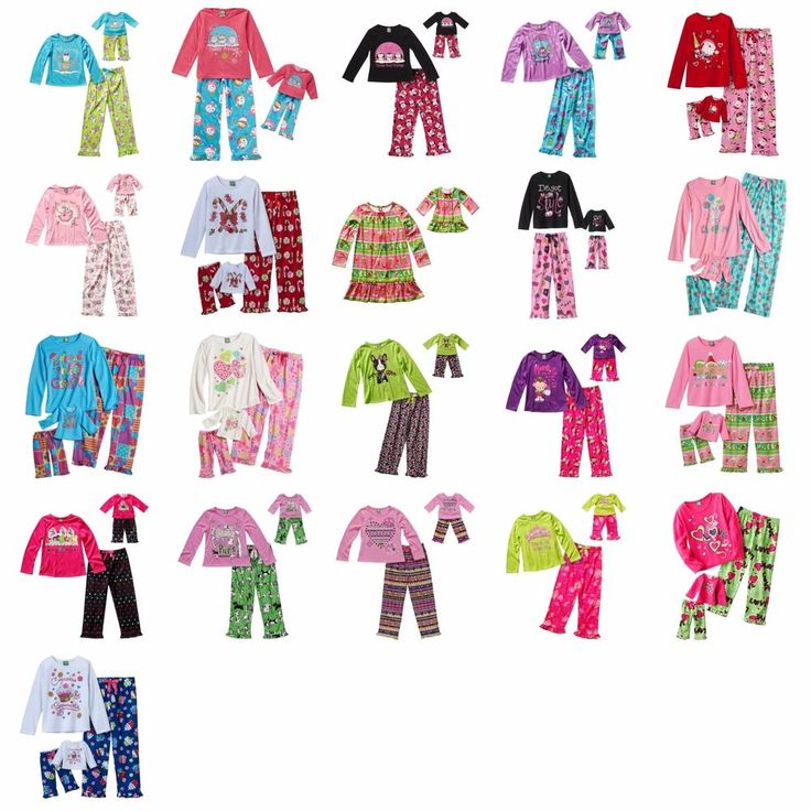 Dollie & Me Girl 4-14 and Doll Matching Winter Pajama Outfit fit American Girls #DollieandMe #PajamaSet