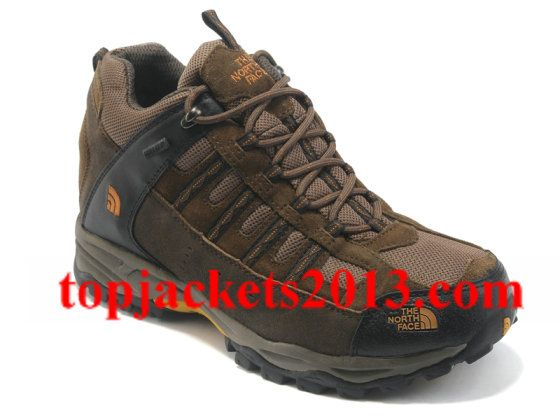 The North Face Outlet Mens Gore Tex Boot Brown Orange