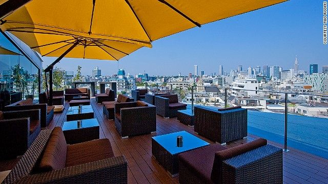 The terrace at Two Rooms Grill Bar serves some of the best Sunday brunches in Tokyo, with great cocktails.