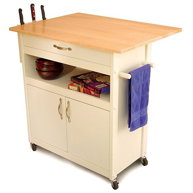 Best 25 kitchen carts on wheels ideas on pinterest for Home styles natural kitchen cart with storage