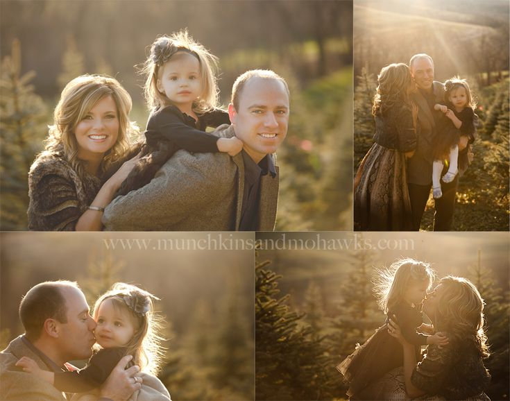 beautiful back light and a family of 3
