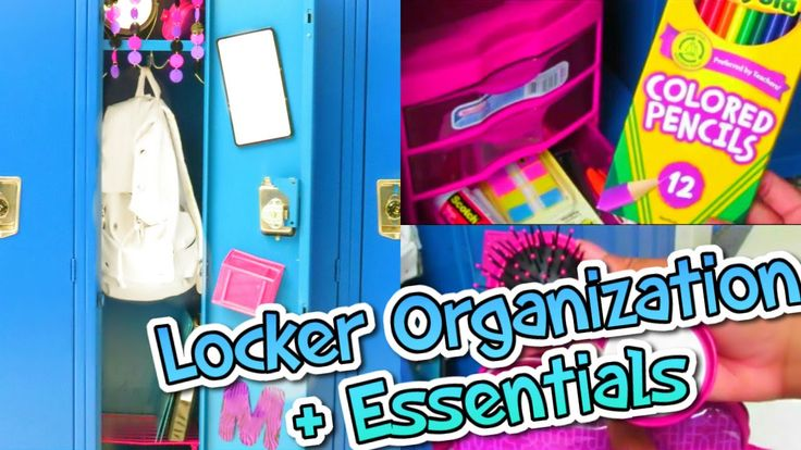 Great video on locker organization! I definitely found some ideas for how I will decorate my locker this year!(: