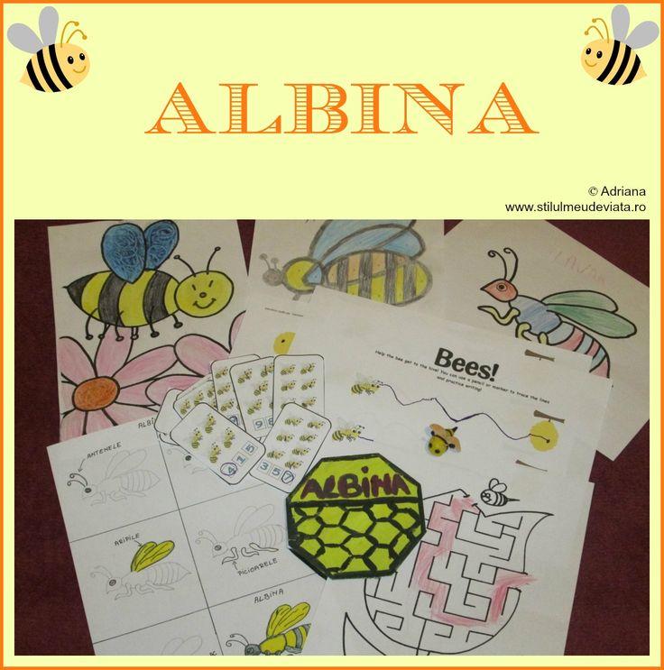 Albina - activitati pentru copii, Bee - kids activity