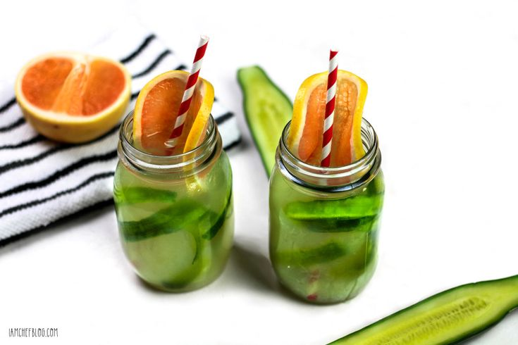 Cucumber & Grapefruit Green Iced Tea