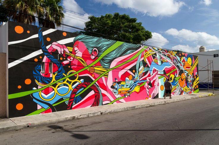 Bicicleta Sem Freio. Mural Topic: Plastic Pollution