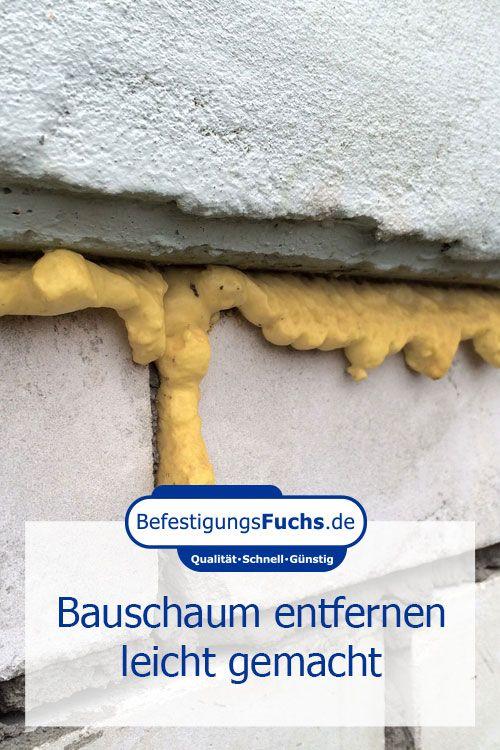 Ausgehärteten Pu Schaum / Bauschaum entfernen.
