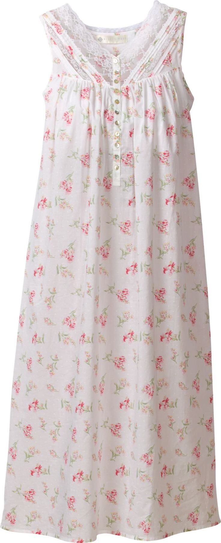 Eileen West Morning Meadow Nightgown: Details, details, and more details…that's the recipe designer Eileen West follows to make creations that have our customers asking for seconds.