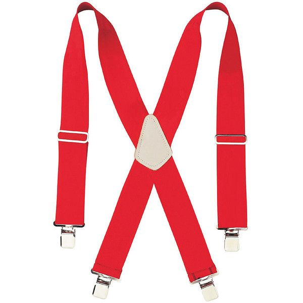 """CLC Work Gear 110RED 2"""" Wide Red Work Suspenders (680 RUB) ❤ liked on Polyvore featuring accessories and suspenders"""