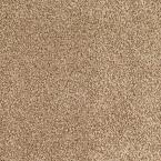Carpet Sample - Lavish II - Color Tan Wicker Texture 8 in. x 8 in., Beige/Ivory